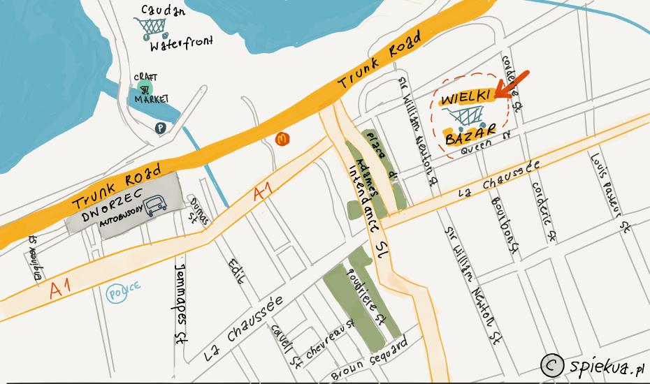 port louis mapa