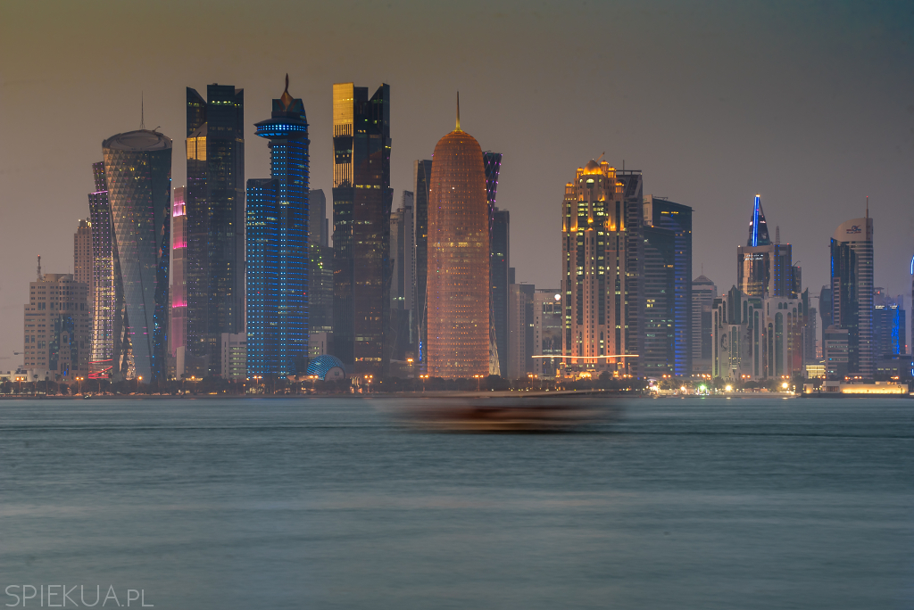 sunset in doha