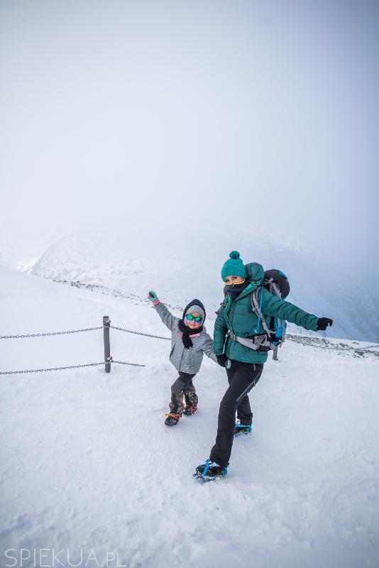 wejście na śnieżkę