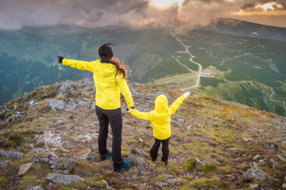 trasa na śnieżkę z dzieckiem