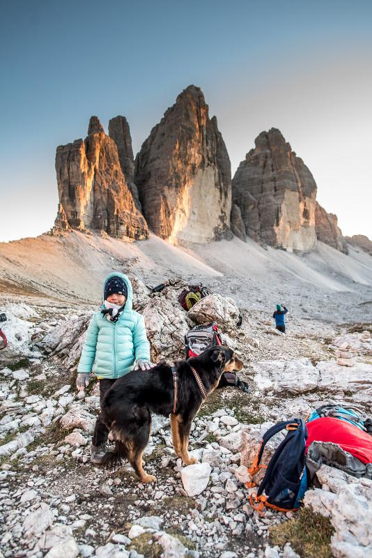 trekking wokół tre cime z dzieckiem