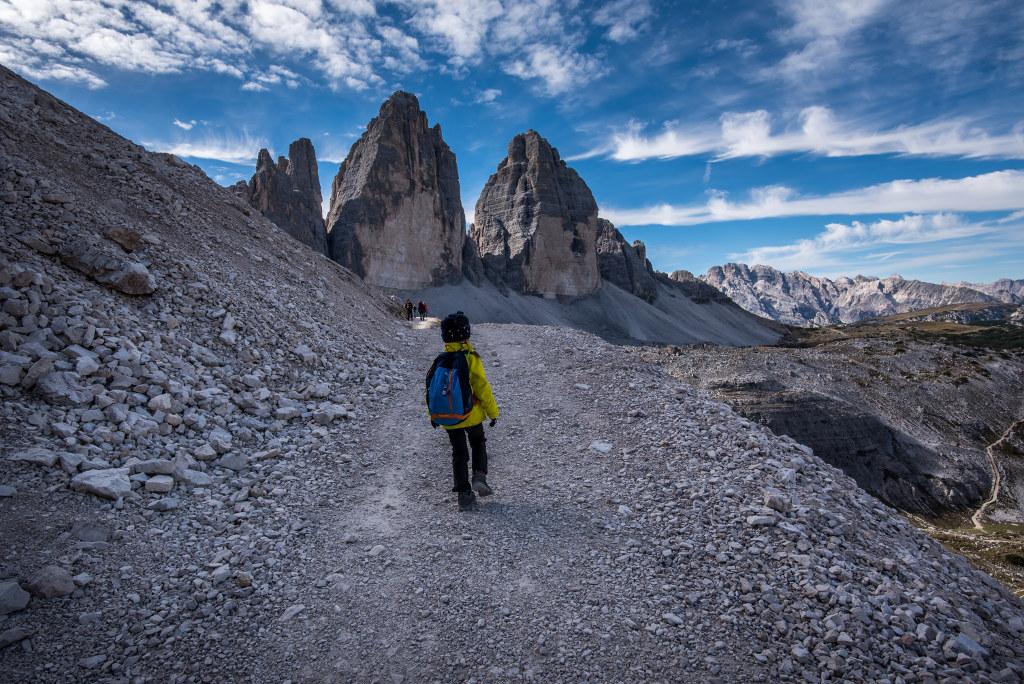 trekking wokół tre cime z dzieckiemtrekking wokół tre cime