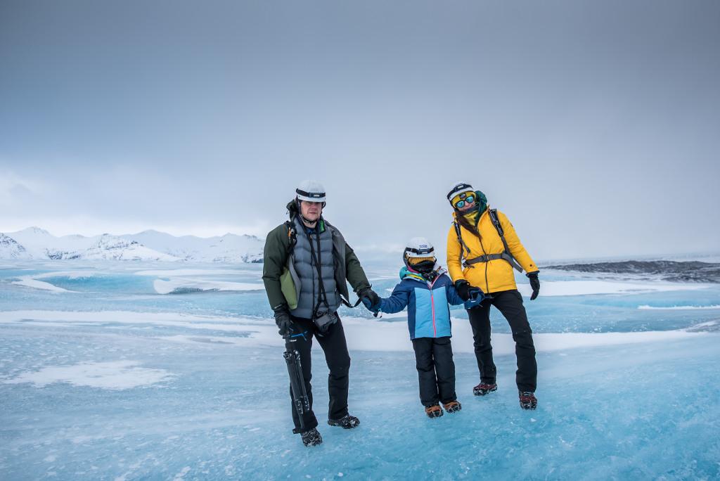 z dzieckiem na lodowiec