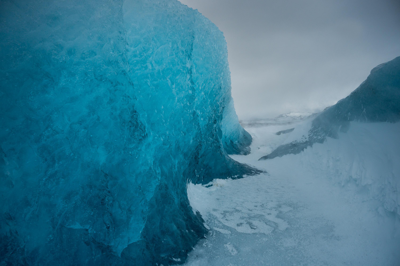 jaskinia lodowa szczelina