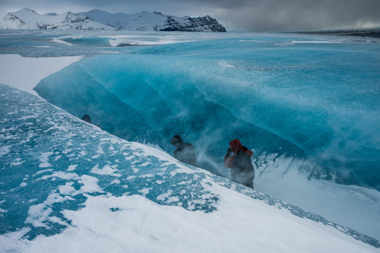 lodowiec szczelina