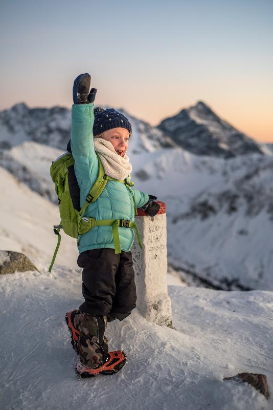 góry zimą z dzieckiem