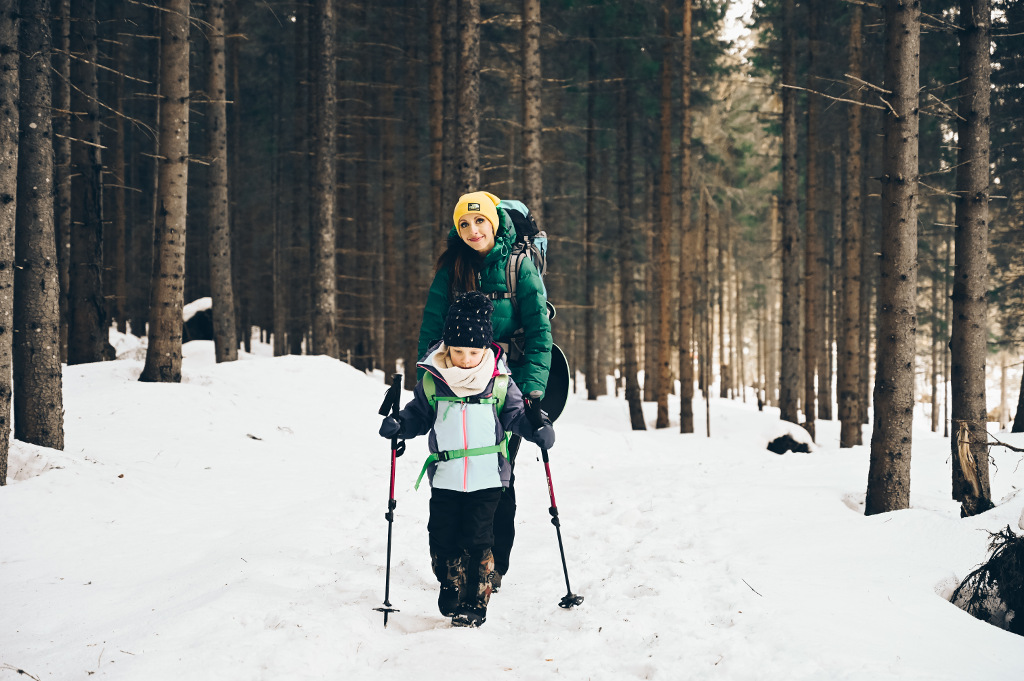 zima na szlaku z dzieckiem