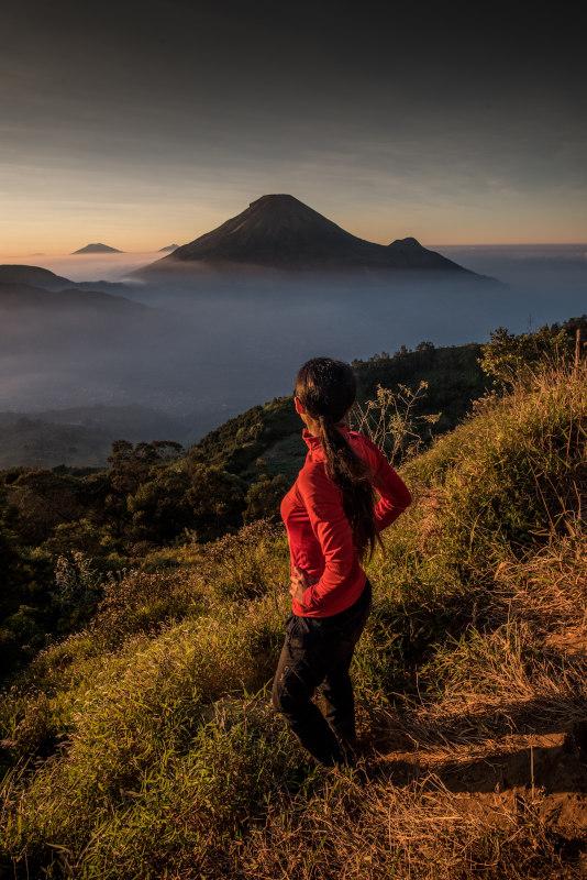 dieng indonezja jawa wschód słońca wulkan
