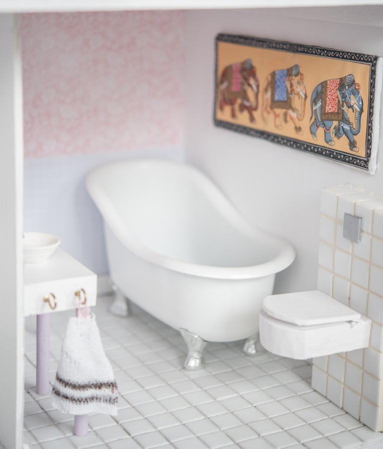 obraz do łazienki dla barbie