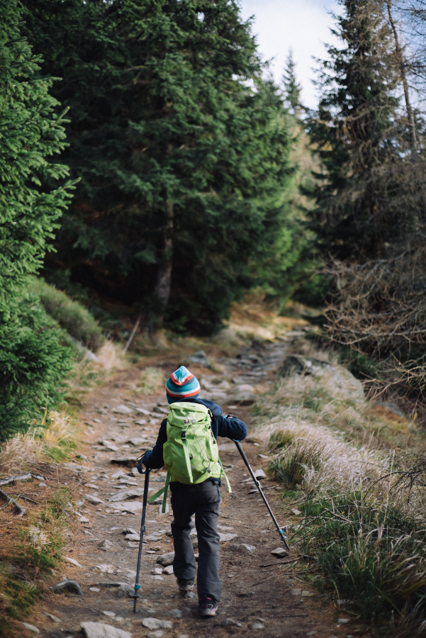 KGP z dzieckiem szlak na Śnieżnik z Międzygórza