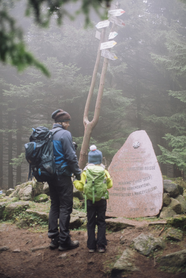 szlak na Skalnik korona gór polski z dzieckiem