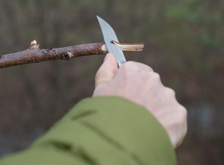 nóż turystyczny drewno