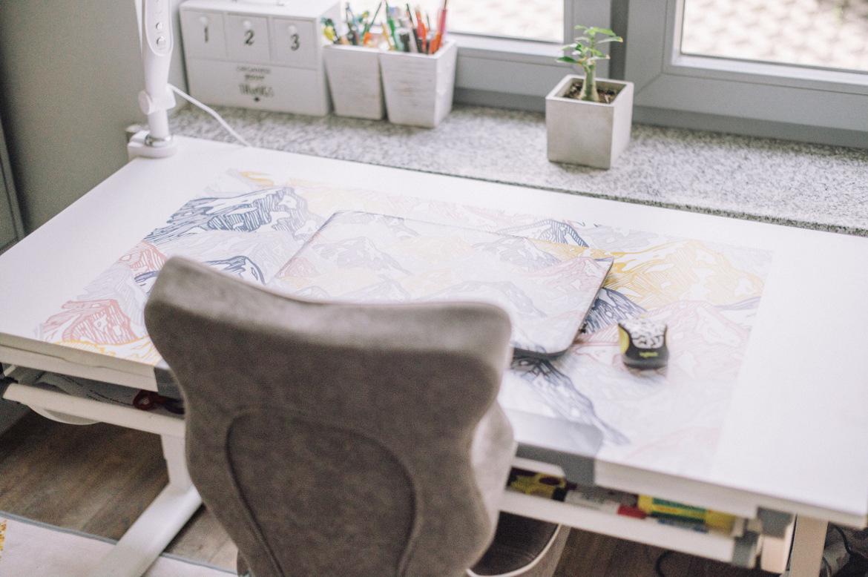 biurko dla dziecka regulowana wysokość i kat góry